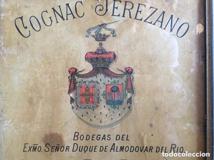 Carteles Publicitarios: Cartel publicidad Cognac Sanchez Romate Jerez Duque de Almodovar del Rio + carpintería San José - Foto 5 - 173659148