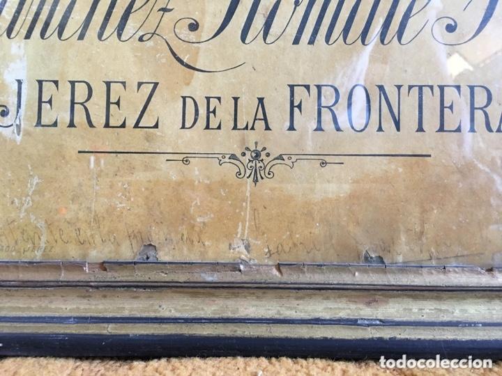 Carteles Publicitarios: Cartel publicidad Cognac Sanchez Romate Jerez Duque de Almodovar del Rio + carpintería San José - Foto 6 - 173659148