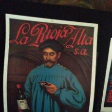 Affiches Publicitaires: CARTEL SOCIEDAD COSECHEROS DE VINO LA RIOJA ALTA BODEGAS HARO IMPRIME H. FOURNIER 1982 55 X 40 CM.. Lote 175147693
