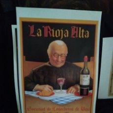 Affiches Publicitaires: CARTEL SOCIEDAD DE COSECHEROS DE VINO LA RIOJA ALTA SAN SEBASTIÁN HARO 64 X 42 CM.. Lote 175147922
