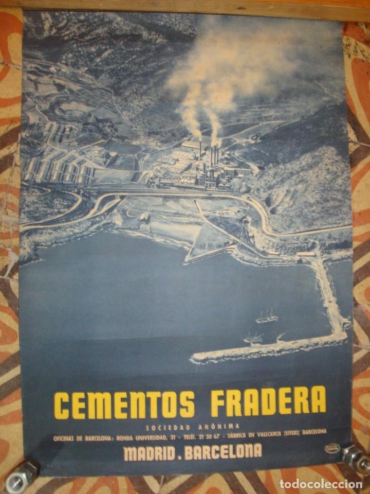 CEMENTOS FRADERA (Coleccionismo - Carteles Gran Formato - Carteles Publicitarios)