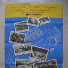 Carteles Publicitarios: CARTEL PLEGADO PUBLICITARIO.NEUMATICOS CONTINENTAL.TAMAÑO ABIERTO: 42 X 30 CTMS.FINALES AÑOS 30S.. Lote 176124158