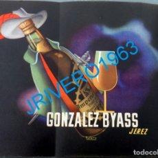 Carteles Publicitarios: AÑOS 40, CARTEL PUBLICITARIO BODEGAS GONZALEZ BYASS, JEREZ DE LA FRONTERA, RARO,26X21 CMS. Lote 176408653