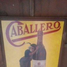 Carteles Publicitarios: CARTEL PINTADO A MANO COÑAC CABALLERO, RAREZA. Lote 177081112