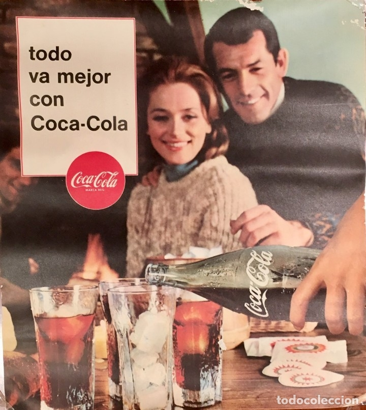 CARTEL, POSTER COCA COLA, VINTAGE AÑOS 60 (Coleccionismo - Carteles Gran Formato - Carteles Publicitarios)