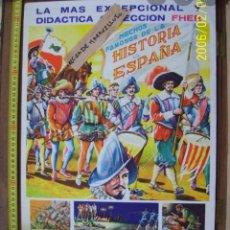 Carteles Publicitarios: CARTEL ANTIGUO LA HISTORIA DE ESPAÑA. Lote 177526549