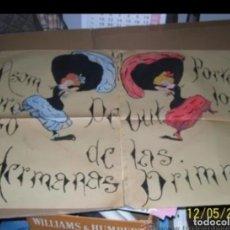 Carteles Publicitarios: CARTEL PINTADO A MANO DEBUT HERMANAS GRIMM. Lote 177655730