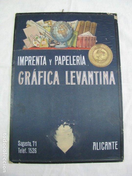 Carteles Publicitarios: CARTEL IMPRENTA Y PAPELERIA GRÁFICA LEVANTINA. ALICANTE. CON RELIEVES - Foto 2 - 178277367