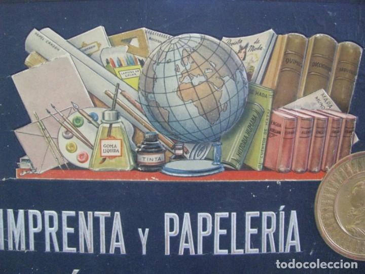 CARTEL IMPRENTA Y PAPELERIA GRÁFICA LEVANTINA. ALICANTE. CON RELIEVES (Coleccionismo - Carteles Gran Formato - Carteles Publicitarios)