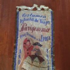 Carteles Publicitarios: GRAN CARTEL BANDERIN ,C. INFANTIL DE TRAJES , PURIGEMMA GRAN PREMIO DE LA EPOCA 1932 ,85X48 CM. MODA. Lote 179150618