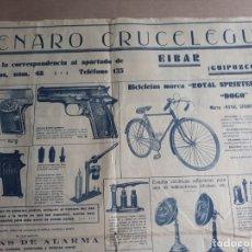 Carteles Publicitarios: CARTEL GENARO CRUCELEGUI EIBAR. Lote 181191398