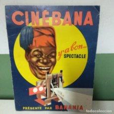 Carteles Publicitarios: PUBLICIDAD CHOCOLATE BANANIA, FRANCIA. JUEGO CINE.. Lote 181206540