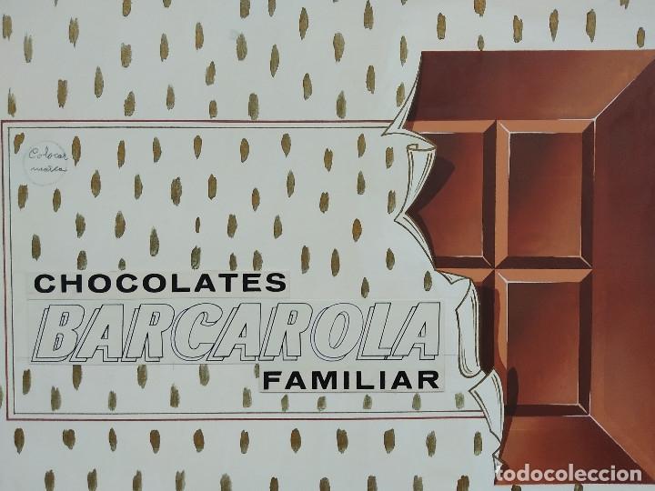 Carteles Publicitarios: CHOCOLATES BARCAROLA, GRANADA. PUBLICIDAD, ORIGINAL PINTADO A MANO - Foto 2 - 181398535