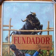 Carteles Publicitarios: PUBLICIDAD BRANDY - FUNDADOR DOMECQ - AÑO 1967 - TORO SALTANDO. Lote 181511080