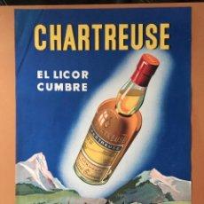 Cartazes Publicitários: GRAN CARTEL LICOR CHARTREUSE , FABRICADO POR LOS PADRES CARTUJOS. Lote 182784432