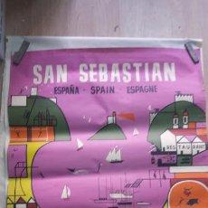Carteles Publicitarios: CARTEL PUBLICITARIO SAN SEBASTIAN FESTIVAL DE CINE AÑO 1961. Lote 182911825