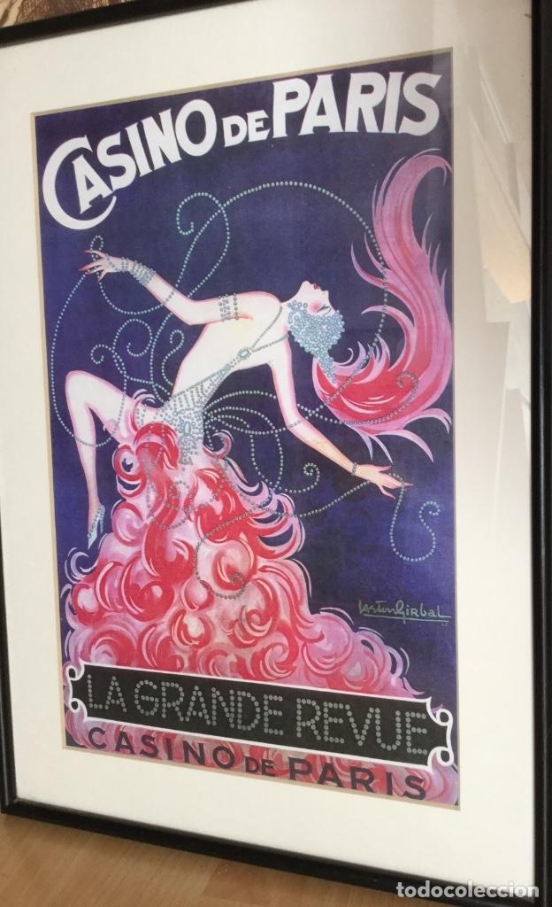 Carteles Publicitarios: Cartel del Casino de Paris enmarcado - Foto 2 - 182973746