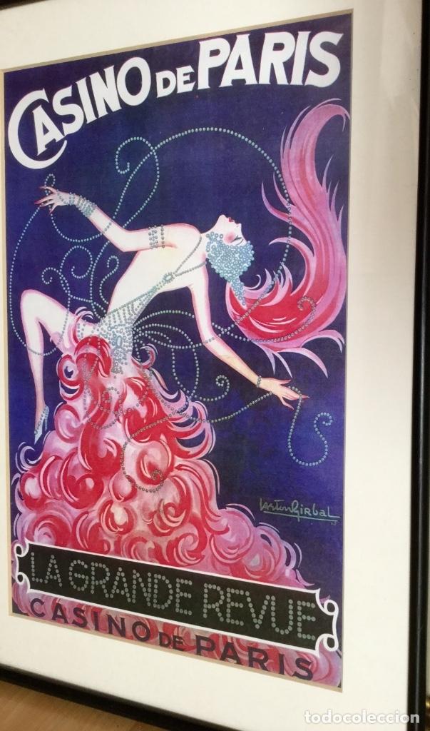 Carteles Publicitarios: Cartel del Casino de Paris enmarcado - Foto 3 - 182973746
