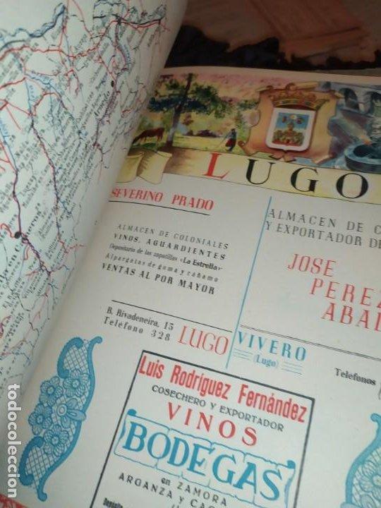 Carteles Publicitarios: UNICO ENCUADERNADO MAPAS PROVINCIAS CON PUBLICIDAD 52 LÁMINAS MAPA PRINCIPALES FERROCARRILES AÑOS 50 - Foto 17 - 183740102