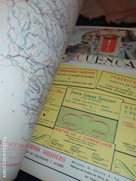 Carteles Publicitarios: UNICO ENCUADERNADO MAPAS PROVINCIAS CON PUBLICIDAD 52 LÁMINAS MAPA PRINCIPALES FERROCARRILES AÑOS 50 - Foto 18 - 183740102