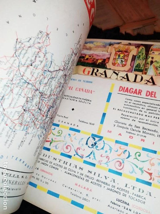 Carteles Publicitarios: UNICO ENCUADERNADO MAPAS PROVINCIAS CON PUBLICIDAD 52 LÁMINAS MAPA PRINCIPALES FERROCARRILES AÑOS 50 - Foto 28 - 183740102