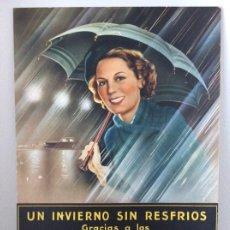 Affiches Publicitaires: CARTEL EXPOSITOR ORIGINAL DE LOS AÑOS 40 PASTILLAS VALDA. Lote 186244233