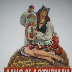 Carteles Publicitarios: ANIS LA ASTURIANA CARTON TROQUELADO. Lote 188403576
