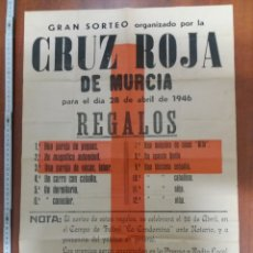 Carteles Publicitarios: CRUZ ROJA MURCIA 1946. Lote 188595252