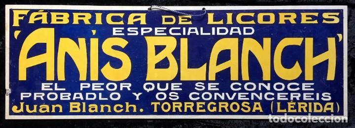 CARTEL FÁBRICA DE LICORES ESPECIALIDAD ANÍS BLANCH - JUAN BLANCH - TORREGROSA (LÉRIDA) (Coleccionismo - Carteles Gran Formato - Carteles Publicitarios)