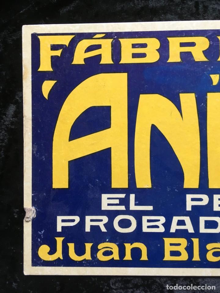 Carteles Publicitarios: CARTEL FÁBRICA DE LICORES ESPECIALIDAD ANÍS BLANCH - JUAN BLANCH - TORREGROSA (LÉRIDA) - Foto 4 - 188681626