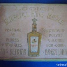 Carteles Publicitarios: (PUB-191225)CARTEL LOCION RAMILLETE REAL, FRANCISCO BETRIAN, BARCELONA, PERFUME DE FLORES NATURALES,. Lote 188729142