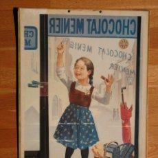 Carteles Publicitarios: CARTEL CHOCOLAT ( CHOCOLATES ) MEUNIER 42,50 X 62 CM IMPRESO EN FRANCIA EN 1978 - CARTÓN . Lote 189478138