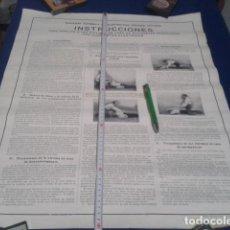 Carteles Publicitarios: CARTEL DE 76 X 56 ( SOCIEDAD ESPAÑOLA DE ELECTRICIDAD - BROWN BOVERI ) AUXILIO A VICTIMAS DE CORRIEN. Lote 190102197