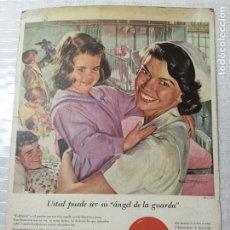 Cartazes Publicitários: CARTEL COCA COLA AÑOS 50. DIBUJO: PETER STEVENS. 35X25 SOBRE CARTÓN.. Lote 190369553
