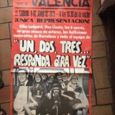 Carteles Publicitarios: CARTEL PUBLICITARIO UN DOS TRES RESPONDA OTRA VEZ. VALENCIA PLAZA TOROS 1973. Lote 190801835