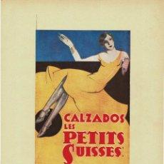 Carteles Publicitarios: CARTEL PUBLICIDAD CALZADOS LES PETITS SUISSES. 40X29,5.. Lote 191476377