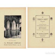 Carteles Publicitarios: CARTEL PUBLICIDAD THE AEOLIAN COMPANY. CONDE PEÑALVER 24.MADRID. 40X29,5.. Lote 191477792