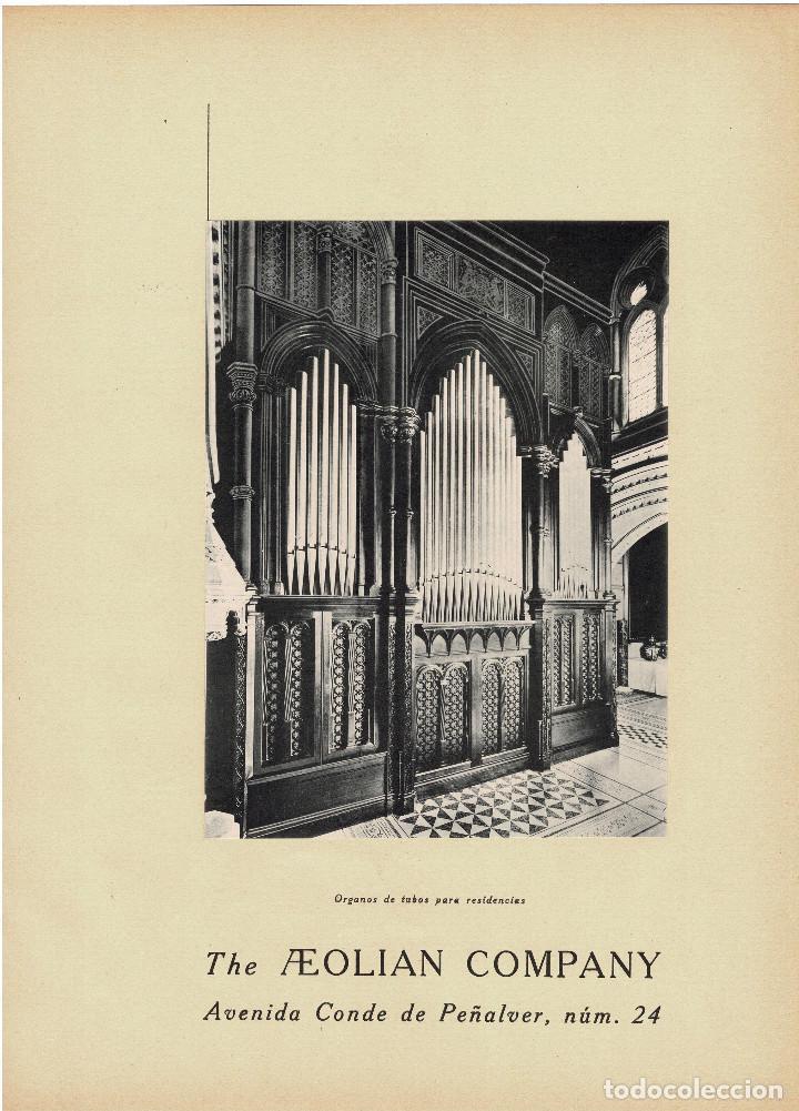 Carteles Publicitarios: CARTEL PUBLICIDAD THE AEOLIAN COMPANY. CONDE PEÑALVER 24.MADRID. 40X29,5. - Foto 2 - 191477792