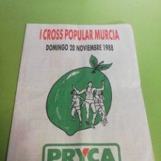 Carteles Publicitarios: PRYCA I CROSS POPULAR MURCIA AÑO 1988. Lote 191587383