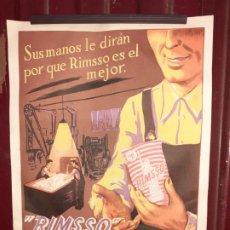 Carteles Publicitarios: CARTEL PUBLICITARIO DETERGENTE RIMSSO DE GRANADA // 23X27 CM. Lote 191595796