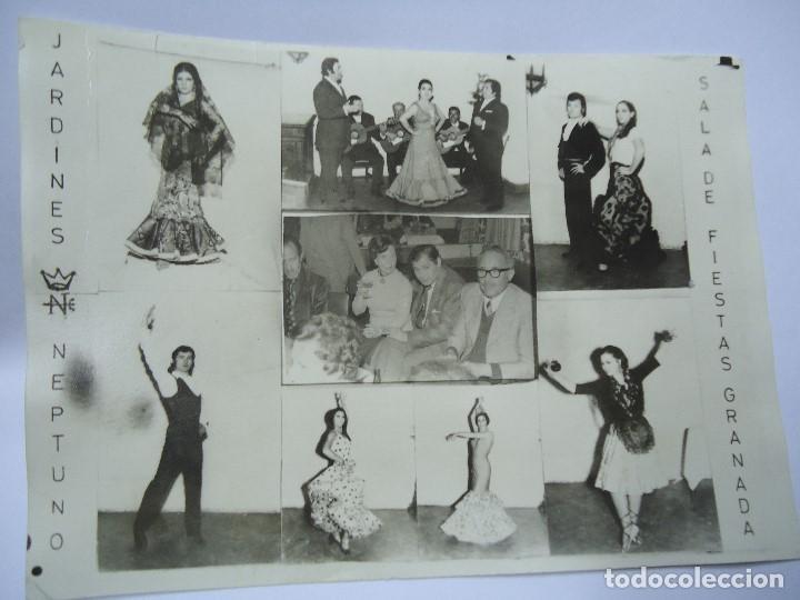 FOTOGRAFIA PUBLICIDAD JARDINES NEPTUNO SALA DE FIESTAS GRANADA 1975 MIDE 12,5 X 17,5 CM. BIEN CONSER (Coleccionismo - Carteles Gran Formato - Carteles Publicitarios)
