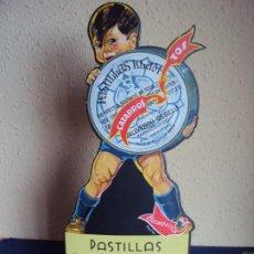 Carteles Publicitarios: (PUB-200198)DISPLAY PUBLICITARIO TROQUELADO EN CARTON - PASTILLAS KLAM - REUS. Lote 192210951