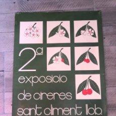 Carteles Publicitarios: CARTEL EXPOSICIO DE CIRERES. Lote 193079810