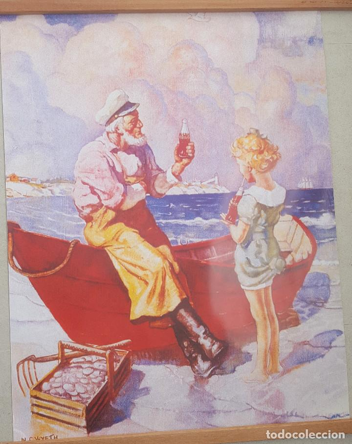 CARTEL GRAN FORMATO DE COCA COLA . DISEÑO DEL PINTOR N.C.WYETH (Coleccionismo - Carteles Gran Formato - Carteles Publicitarios)