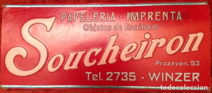 CARTELES PUBLICITARIOS SOUCHEIRON (49 X 21 CM) + DAGA (36 X 25 CM) (Coleccionismo - Carteles Gran Formato - Carteles Publicitarios)