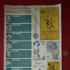 Carteles Publicitarios: CARTEL PUBLICITARIO , ELCHE C.F. Y HERCULES C.F. ALICANTE CON PUBLICIDAD DEL MOMENTO - 1964. Lote 194341278