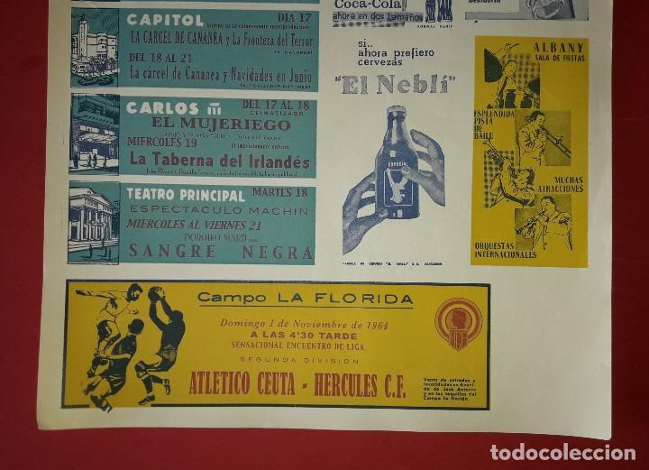 Carteles Publicitarios: CARTEL PUBLICITARIO , ELCHE C.F. y HERCULES C.F. ALICANTE CON PUBLICIDAD DEL MOMENTO - 1964 - Foto 3 - 194341278