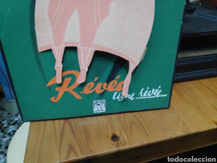 Carteles Publicitarios: Lenceria revea carton cartel originale en relieve 20 x 30 cm aprox pin-up vintage - Foto 3 - 194373073