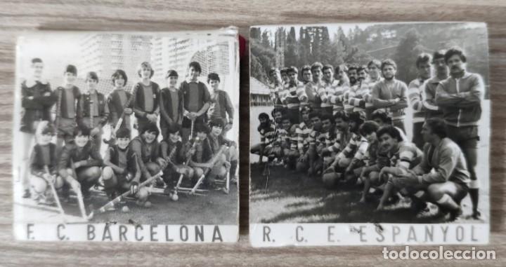 CAJAS DE CERILLAS ANTIGUAS R.C.E ESPANYOL Y F.C BARCELONA (Coleccionismo - Carteles Gran Formato - Carteles Publicitarios)