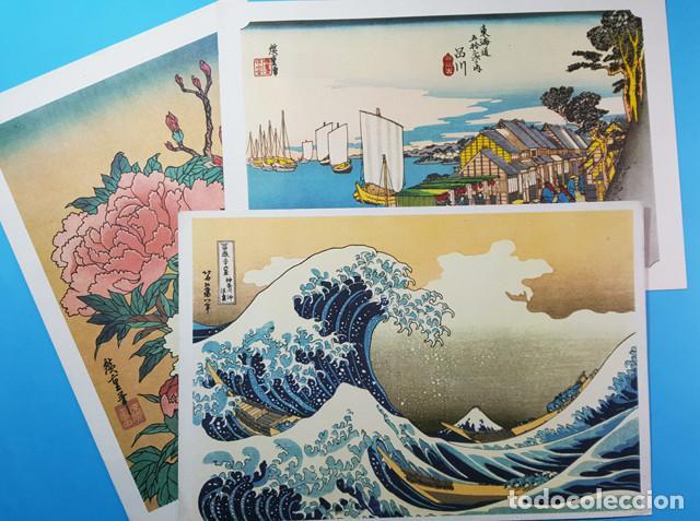 LOTE 3 BONITAS LAMINAS JAPONESAS PUBLICIDAD DE LABORATORIOS MADE 27 X 40 CM, CARTEL (Coleccionismo - Carteles Gran Formato - Carteles Publicitarios)